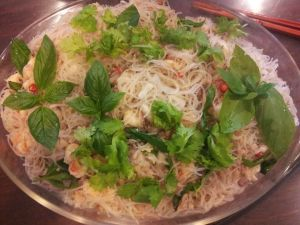 Auntie Bes famous Thai seafood tanhoon cold dish