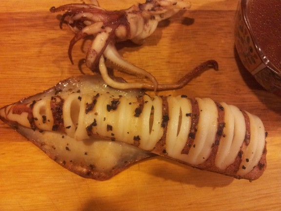 "oven grilled ""sotong"" (squid)"
