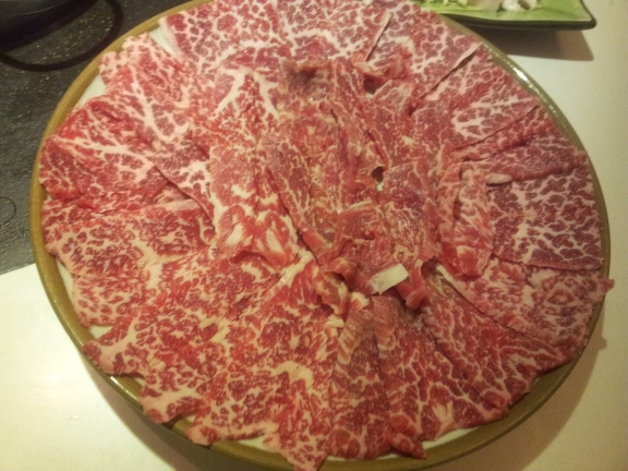 handcut US angus marbled beef (肥牛)