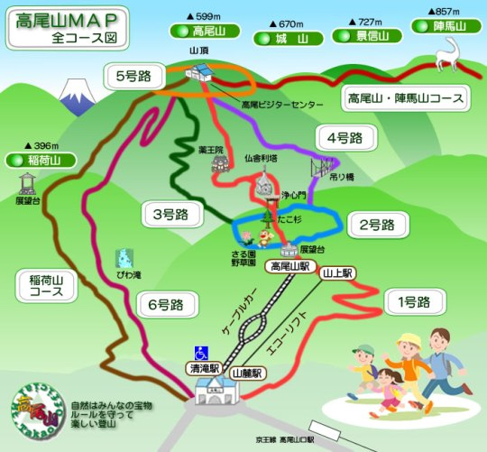 takaosan (高尾山)walking  trails