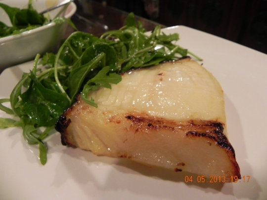 Nobu miso cod - the usual lovely firm, bouncy, slightly oily cod texture & full of flavours
