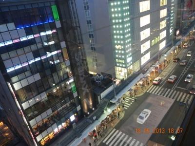view of Kawaramachi Kyoto from 花心 Kaisin on 9Flr