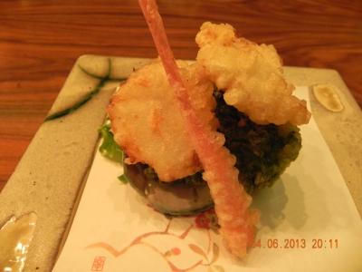 awabi (abalone) & nori (seaweed) tempura
