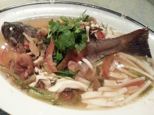 steamed red garoup shunde style