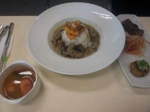 S$12 green curry pork set
