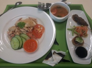 S$12 chicken rice lunch set