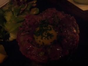 beef tartar (S$32)