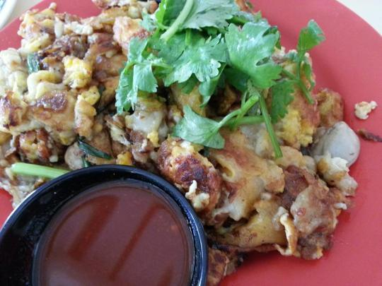 or luah (fried oyster omelette)