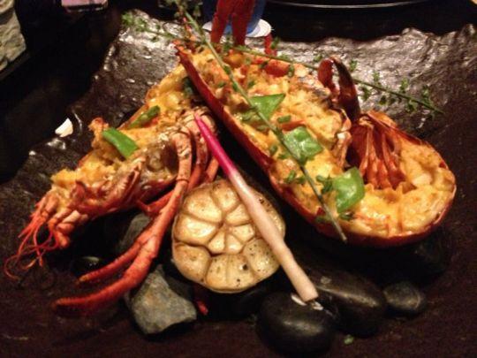lobster uni yaki