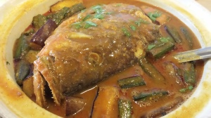 fish head curry - S$25