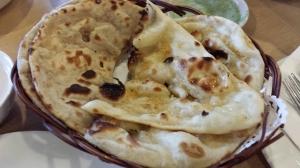 garlin naan (S$3.50) & tandoori roti (S$2.50)
