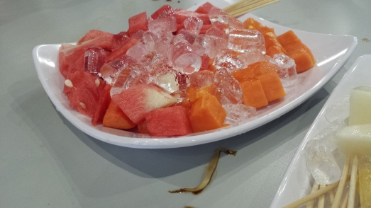 watermelon & papaya