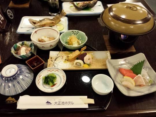 1st kaiseki dinner at taisyoike   ryokan 14.10.2013