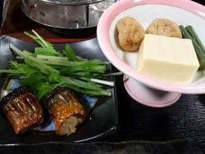 nice tofu, yuba & rolled fish