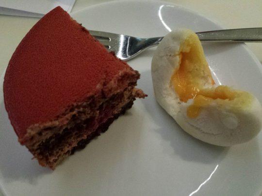 birthday cake & 流沙寿桃