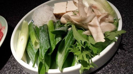 sukiyaki condiments