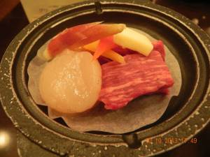 wagyu beef & scallop