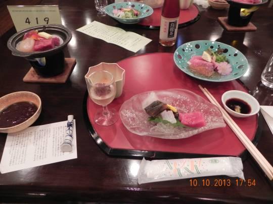 kaiseki dinner @ greenview-tateyama ryokan