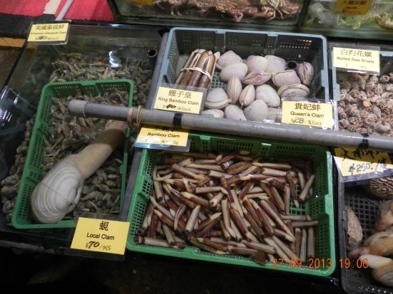 geoduck (pronounced gui-duck) & razor clams