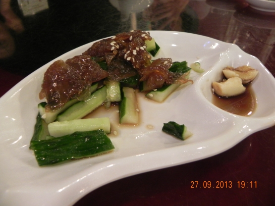 pickled jelly fish & cucumbers
