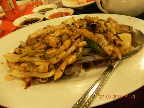 spicy fried razor clams 聖子