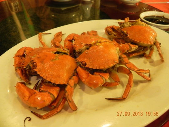 油局蟹 - oil or butter baked roe crabs