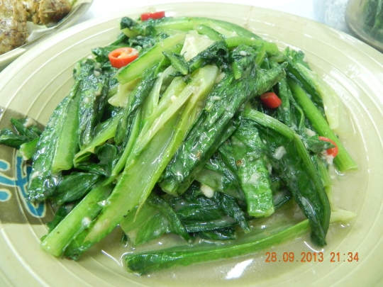 romaine lettuce with fermented beancurd