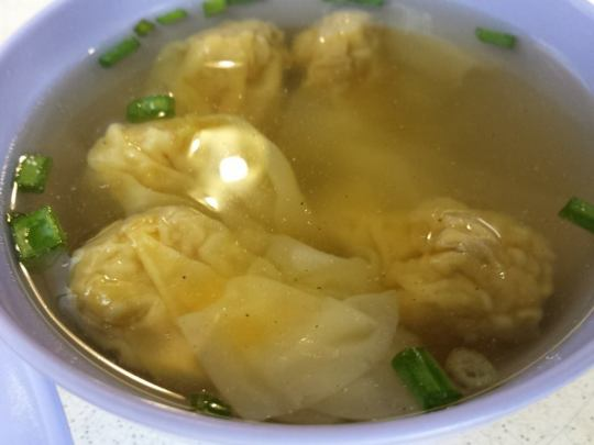 5 tasty wantons & soup
