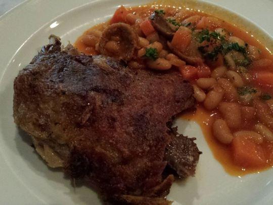 duck confit & lamb sausage