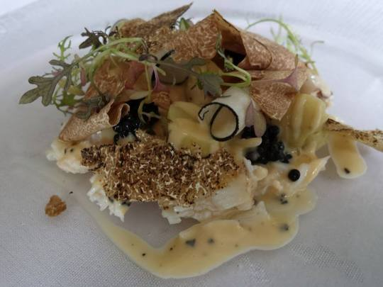 mud crab potato salad, caviar & truffle