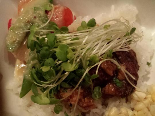 belly pork rice bowl