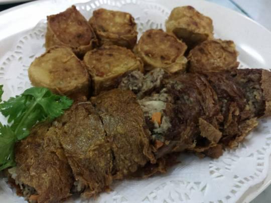 hae chor (虾枣)& liver roll (肝花)