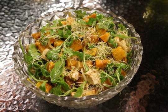 delicious pumpkin tofu salad