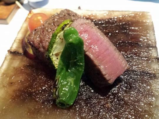 grilled ohmi wagyu