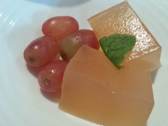 plum jelly & grapes