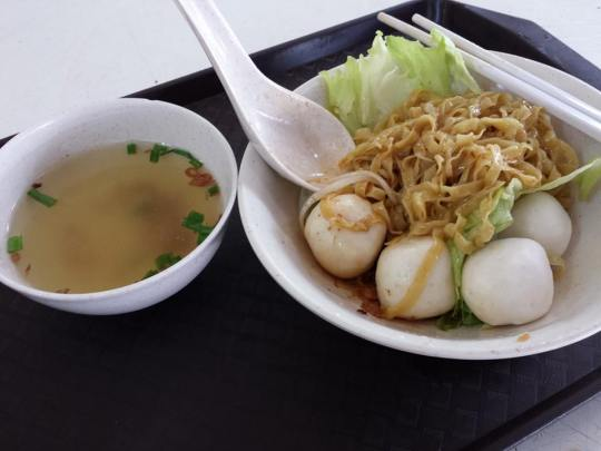teochew fishball noodles S$2.80