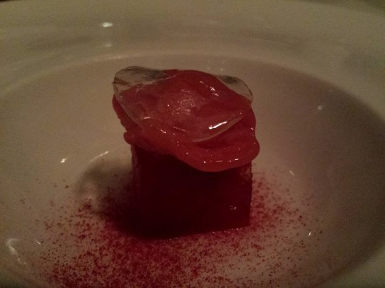 palate cleanser - watermelon, sorbet & lime jelly
