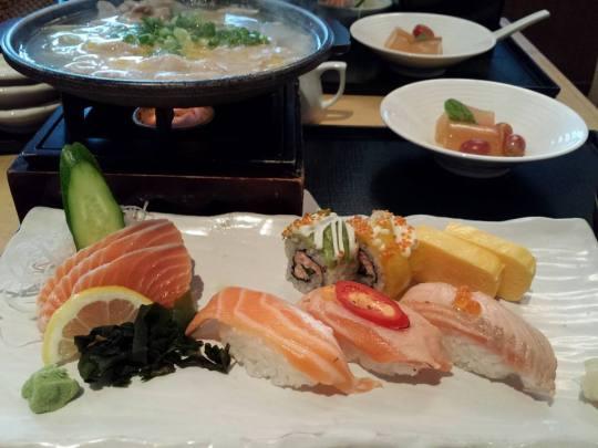 sushi & pork nabe set