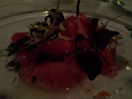 blue fin tuna ceviche