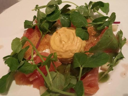smoked salmon (part of S$35 3-course restaurant week menu)