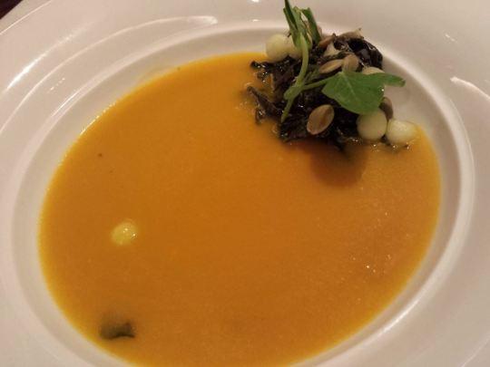 lavendar pumpkin soup S$8