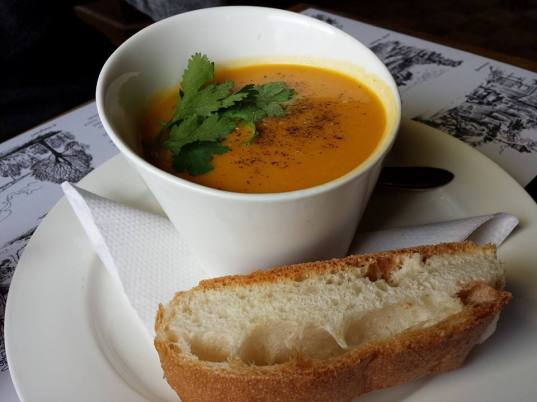 carrot coconut soup @ amsterdam