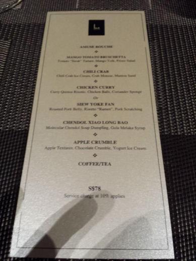 5-course menu