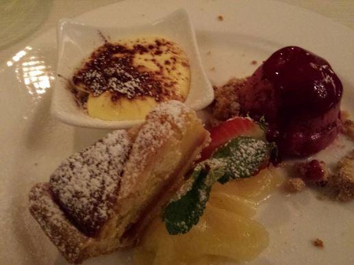 45euros pax menu darsena #5 trio of desserts