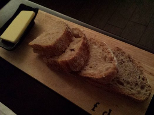 semi sour dough served with butter & del (salt)