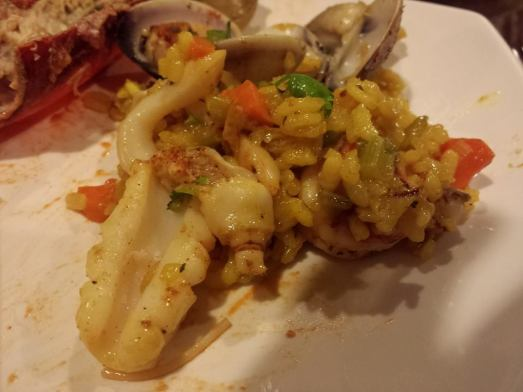 seafood risotto prawns, squid, razor clams, littleneck clams)