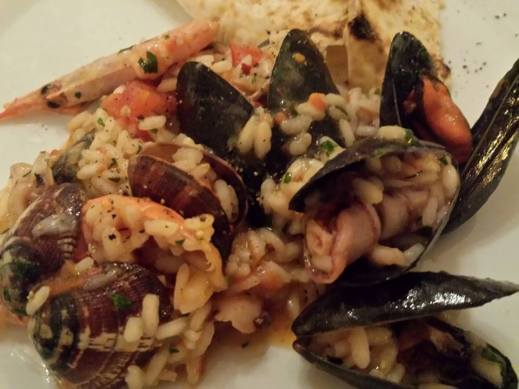 monterosso restaurant miky's famous flamed seafood risotto