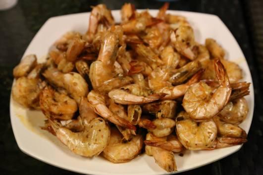 #10 dry wok prawns