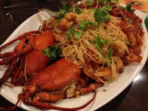 lobster angel hair pasta