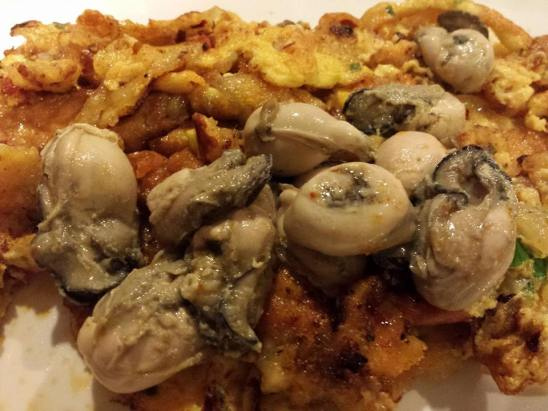 orh luah = oyster omelette